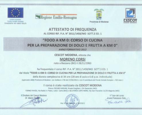 Corsi e certificazioni Centrale Caffè Valsamoggia